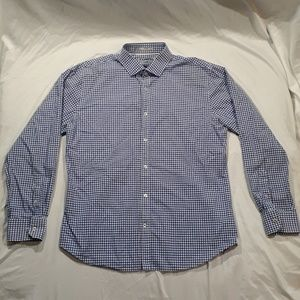 Express Blue Button Down Casual Dress Shirt XL